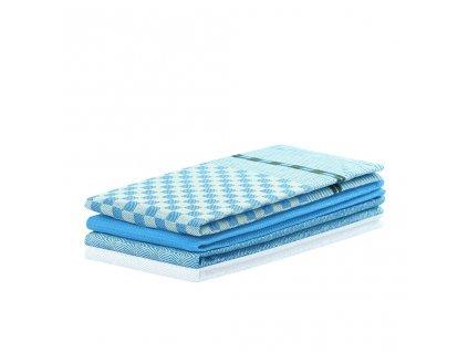Sada kuchyňských utěrek, Louie modrá - 3 ks 50x70 cm