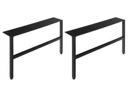 ODETTA podpěrné nohy 60x260-270x412mm, lakovaná ocel, černá mat, 2ks