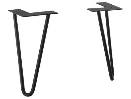 ODETTA podpěrné nohy 120x265x120mm, lakovaná ocel, černá mat, 2ks