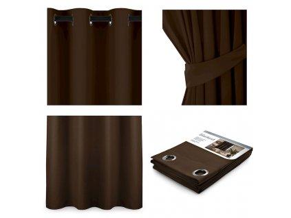 Dekorační závěs Blackout tmavě hnědý, 1 ks 140x175 cm