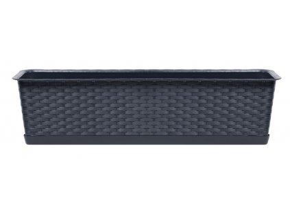 Truhlík s miskou RATOLLA CASE antracit 88,1 cm