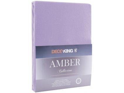 Bavlněné jersey prostěradlo Amber, fialová