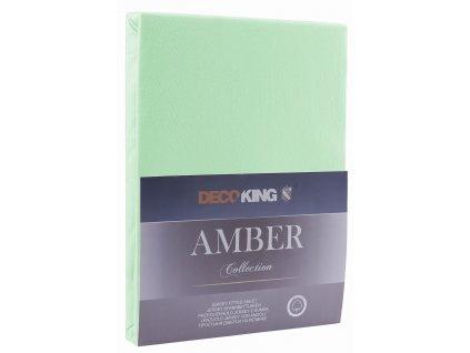 Bavlněné jersey prostěradlo Amber, mentolově zelená