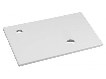 MINOR deska pod umývátko 40x22cm, baterie vlevo, litý mramor, bílá