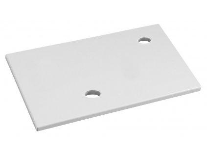 MINOR deska pod umývátko 40x22cm, baterie vpravo, litý mramor, bílá