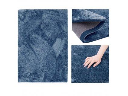 Koberec Morko tmavě modrá, 50x80