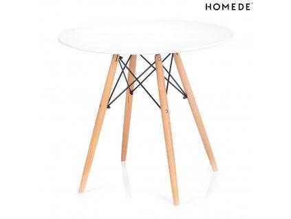 Jídelní stůl Tebe bílá, 85x85 cm