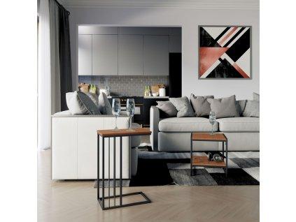 Příruční stolek Flurta Espresso 45x25x63 cm