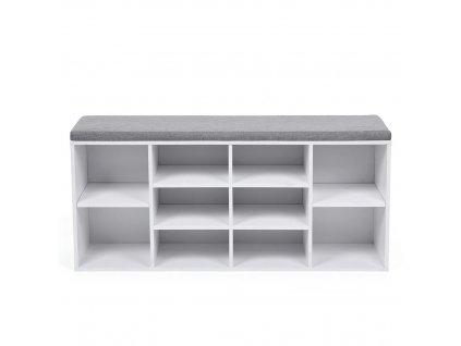 Botník bílá/šedá 104x30x48 cm