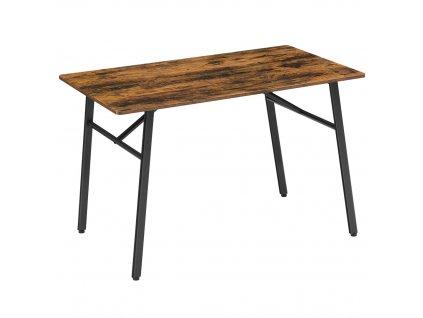 Jídelní stůl Industry hnědá/černá 120x75x75 cm