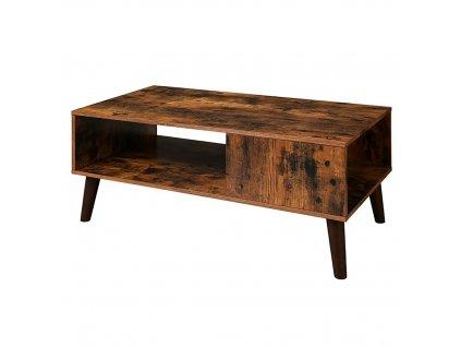 Konferenční stolek Industry hnědá/černá 100x50x45 cm