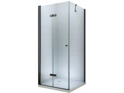 Mexen Lima sprchový kout, dveře skládací, 100 x 90 cm, transparentní - černá - 856-100-090-70-00