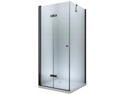 Mexen Lima sprchový kout, dveře skládací, 100 x 110 cm, transparentní - černá - 856-100-110-70-00
