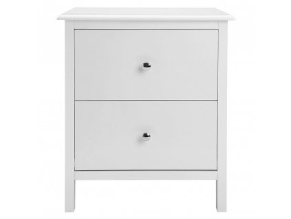 Noční stolek, bílá 48x40x56 cm