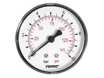 """Manometr 63mm 1/4"""" Axiál 0-10 bar"""