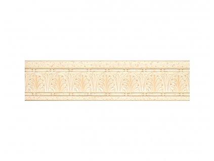Listela Travertine, 8x33 cm, béžová, lesk, rektifikovaná