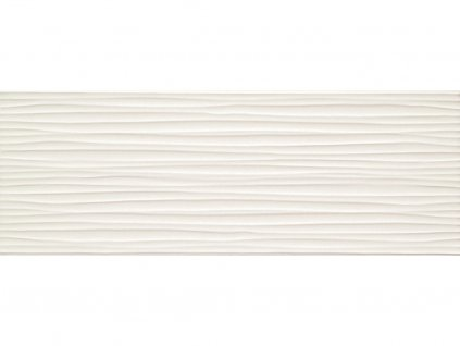 Dekor JOY,  25x70 cm, wave bílý, lesk, rektifikovaný