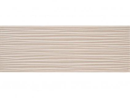 Dekor JOY,  25x70 cm, wave tortora, lesk, rektifikovaný