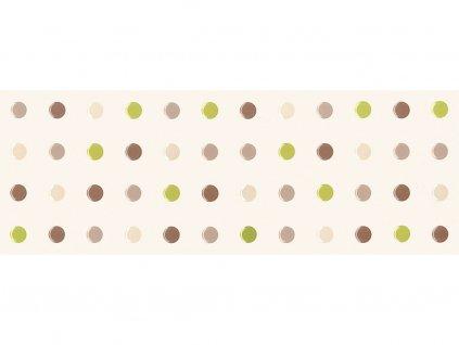 Dekor JOY, 25x70 cm, verde pois, lesk, rektifikovaný
