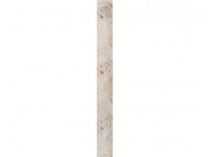 Listela Scala, 5x40 cm, bílá, lesk