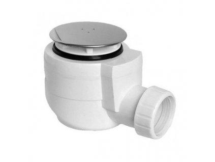 Vaničkový sifon, průměr otvoru 50 mm, DN40, krytka leštěný nerez