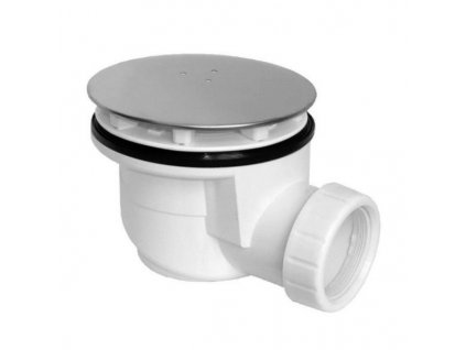 Vaničkový sifon, průměr otvoru 90 mm, DN50, krytka leštěný nerez