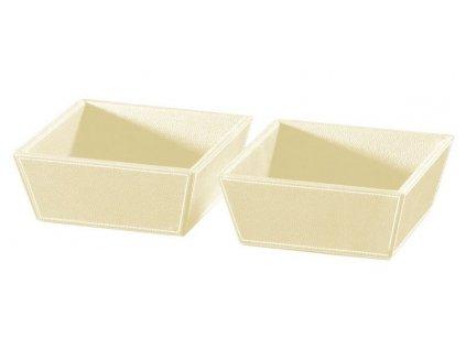 ECO PELLE odkládací misky 2ks 19,6x8x19,6cm, krémová