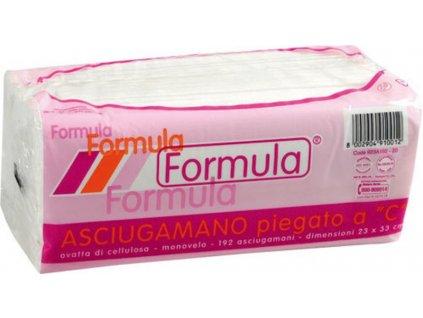 Papírové ručníky jednovrstvé C, čistá celulóza, balíček 23x33cm, balení 3840 ks, bílá