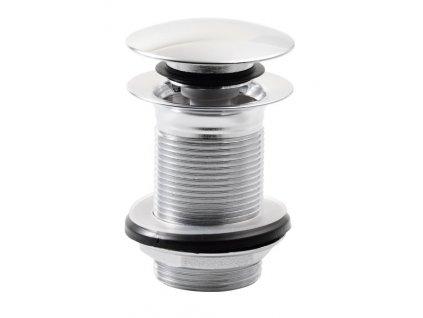 Uzavíratelná kulatá výpust pro umyvadla bez přepadu Click Clack, V 10-50mm,chrom