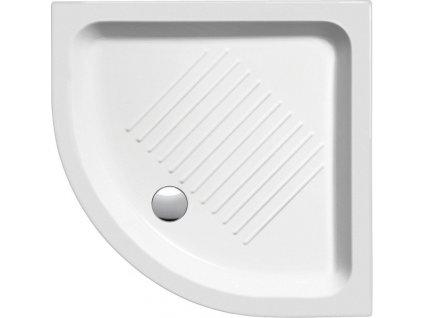 Keramická sprchová vanička, čtvrtkruh 90x90x12cm, R550