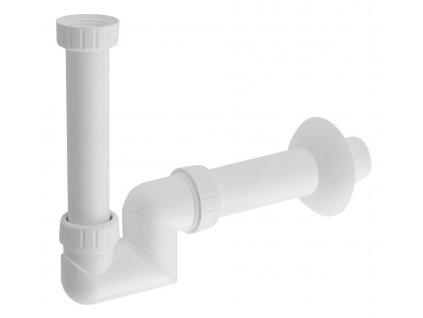 Umyvadlový sifon 1'1/4 nízký, odpad 40 mm, bílá