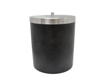 STONE odpadkový koš, černá
