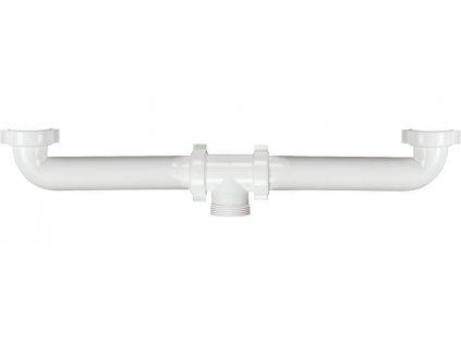 Nástavec pro dvojdřez 1'1/2, bílá, plast