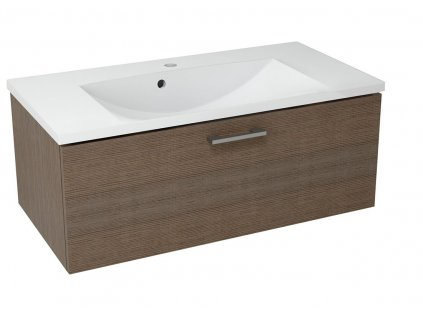 MAKALA umyvadlová skříňka 89,5x35x45,2 cm, borovice rustik