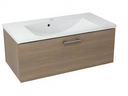 MAKALA umyvadlová skříňka 89,5x35x45,2 cm, ořech bruno
