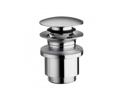 Uzavíratelná k. výpust pro umyvadla bez přepadu,Click Clack,tichá,V10-25mm,chrom