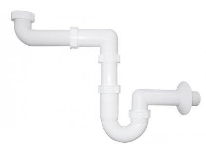 Umyvadlový sifon šetřící místo 1'1/4 odpad 40 mm, bílá