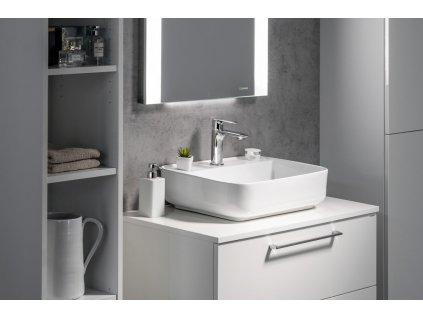 GARDA keramické umyvadlo 50x13,5x40 cm, na desku