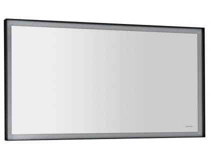 SORT LED podsvícené zrcadlo 120x70cm, matná černá