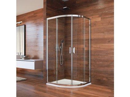 Sprchový kout, LIMA, čtvrtkruh, chrom ALU
