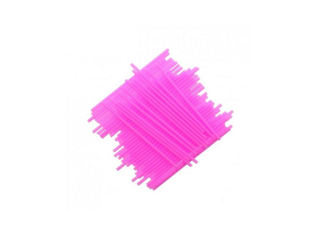 Plastové tyčinky, 15cm, 25ks, růžové