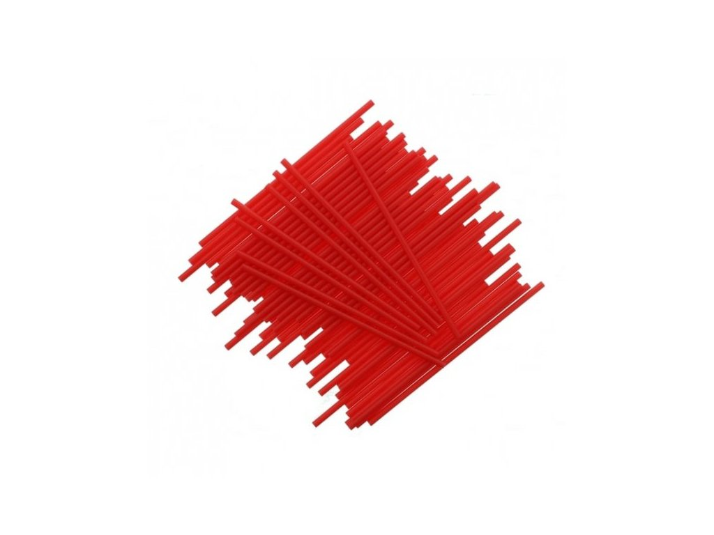 Plastové tyčinky, 15cm, 25ks, červené