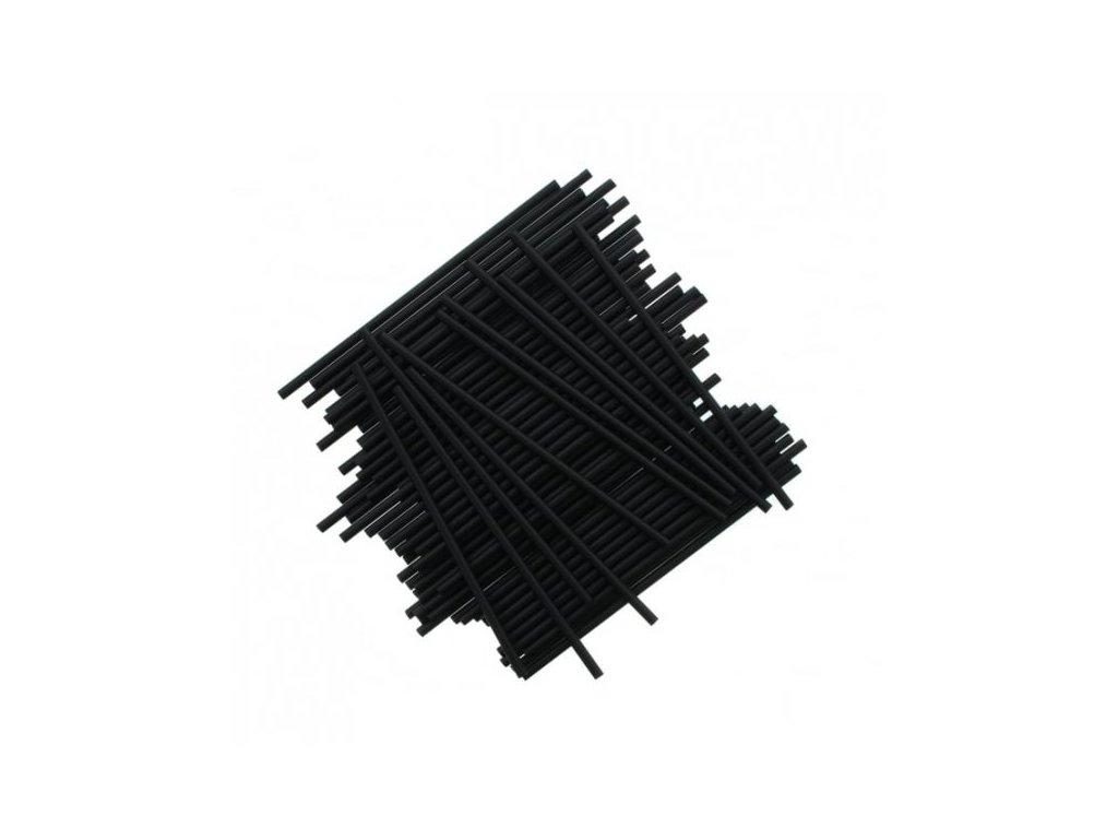 Plastové tyčinky, 15cm, 25ks, černé