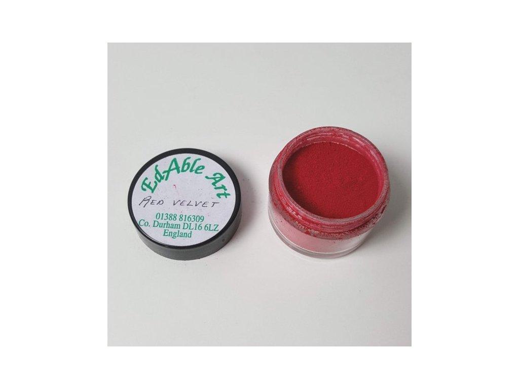 Prachová matná dekorační barva Red Velvet