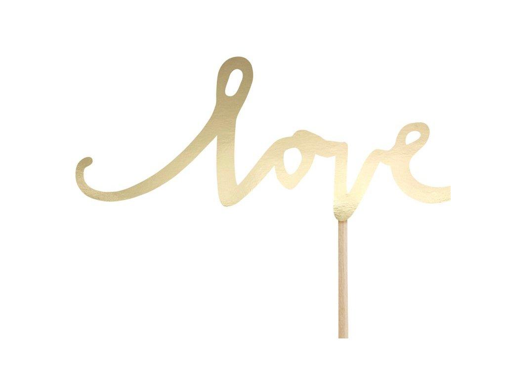 Zápich Love zlatý