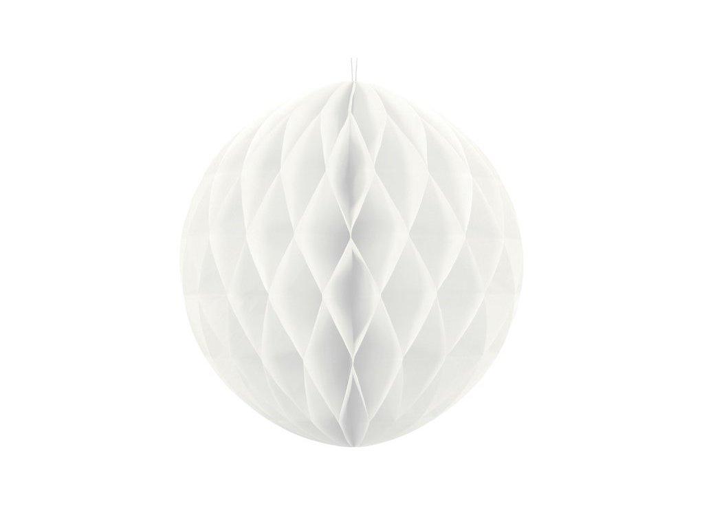 Dekorační koule bílá, 20cm
