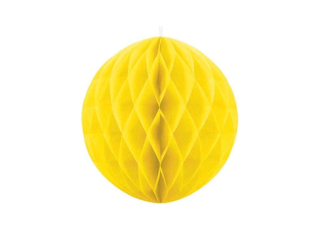 Dekorační koule žlutá, 20cm