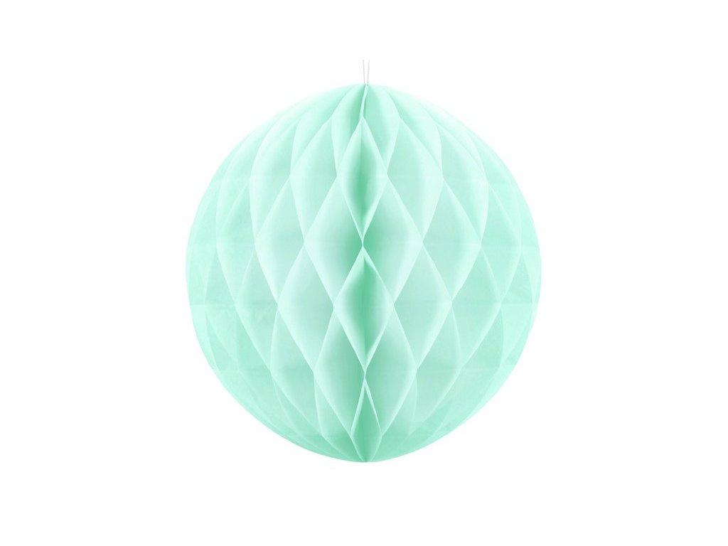 Dekorační koule světle mátová, 20cm