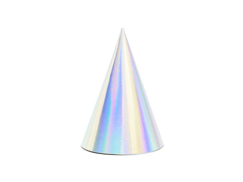 Stříbrné - unicorn čepičky 6ks