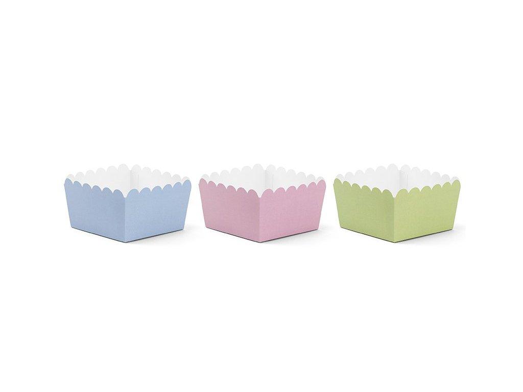 Krabičky papírové pastelové 6ks